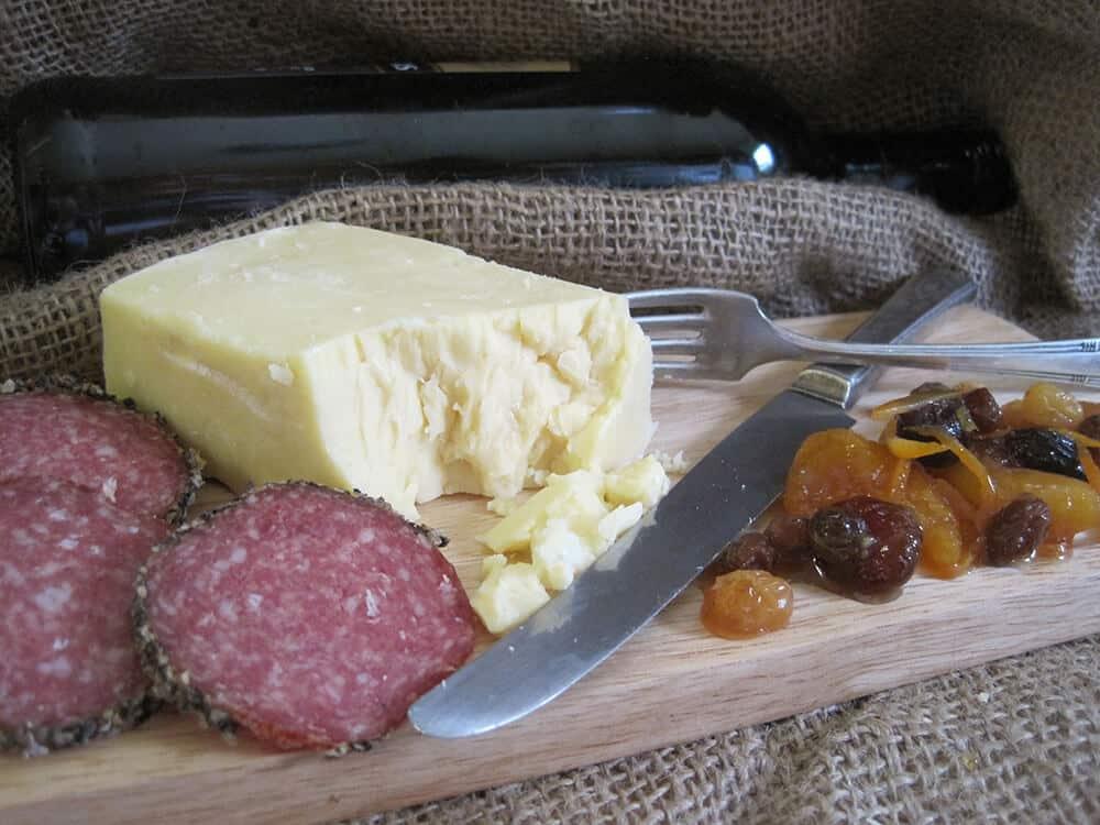 Cheese and chutney board