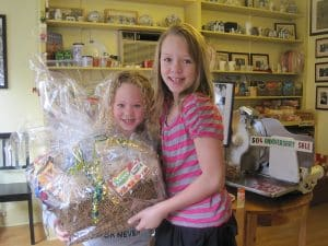 Our Easter gift basket winner