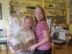 Our Easter gift basket winner