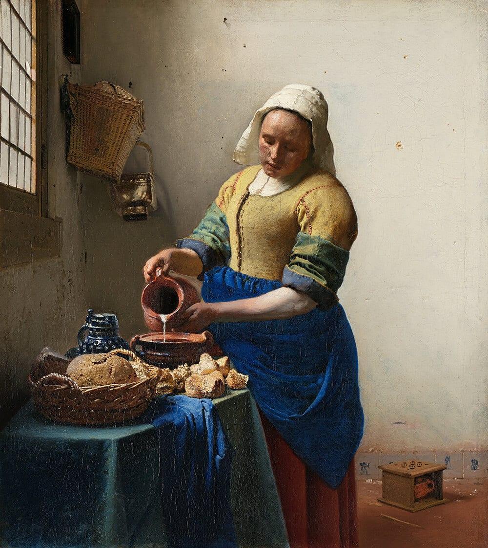 Jan Vermeer's The Milkmaid
