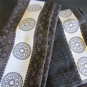 teatowels Lace_Black