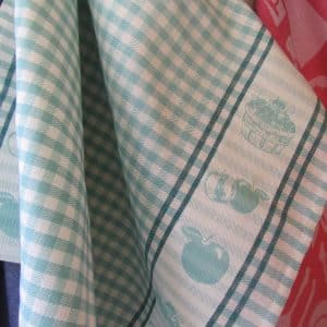 teatowels apple aqua