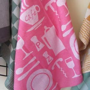 teatowels pink cafe