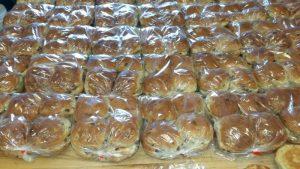 VS loads of raison buns