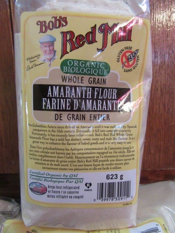Amaranth flour by Bob's Red Mill