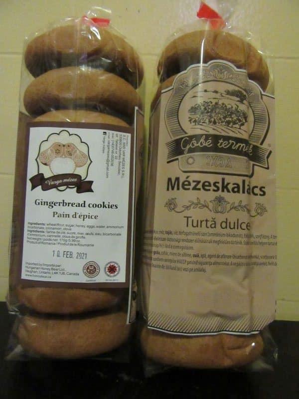 Hungarian gingerbread cookies